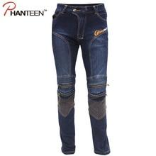 Man Motocross Pro Riding Elastic Pants Protector Motorcycle Jeans Pantalon Moto Comfortable Biker Men Trousers
