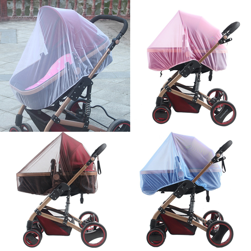 Newborn Baby Stroller Crip Netting Toddler Infant Pushchair Mosquito Insect Net Safe Mesh Outdoor Baby Care Full Cover Netting