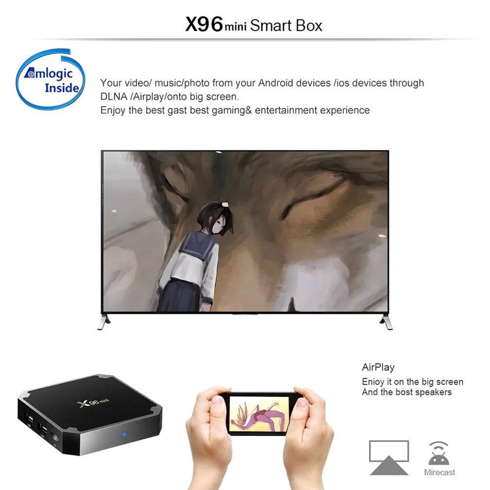 X96 mini Android 7 1 Smart TV BOX X 96 2GB/16GB 1GB/8GB Amlogic S905W Quad  Core support 4K 30tps 2 4GHz WiFi Set top Box