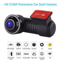 360 degree Panoramic Car Dash Camera Infrared night vision F2.0 HD 2160P Sony IMX326 WiFi Vehicle Dashcam G Sensor