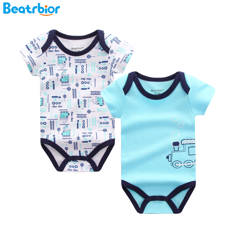 Baby Bodysuits Infant Body Short Sleeve Jumpsuits Cute Printed Baby