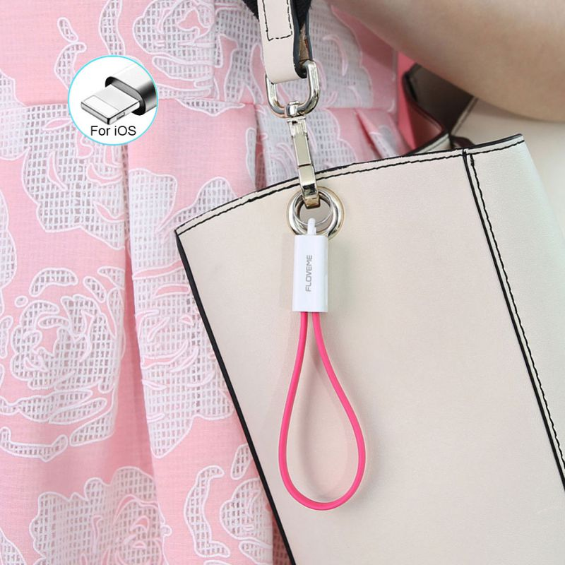 Portable Multi Charging Cable Travel Short Cables Cord Key Chain Creative Three kinds USB Interface Cable Car Key Ring in Key Rings from Automobiles Motorcycles