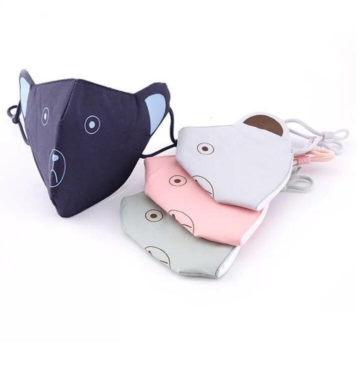 Children's Winter Warm Lovely Cartoon Mask Kids PM 2.5 Breathable 100% Cotton Mouth-muffle R467