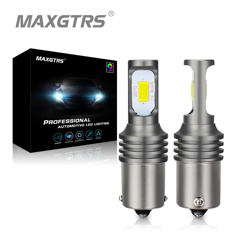 цена на 2x 1156 LED Light Bulb BA15S P21W S25 Canbus 6000K Reverse Light Back Up Light Tail Light Turn Signals Brake Light