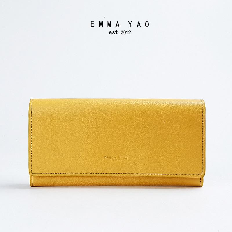 EMMA YAO Women's  leather wallet female brand coin purses holders fashion women bag