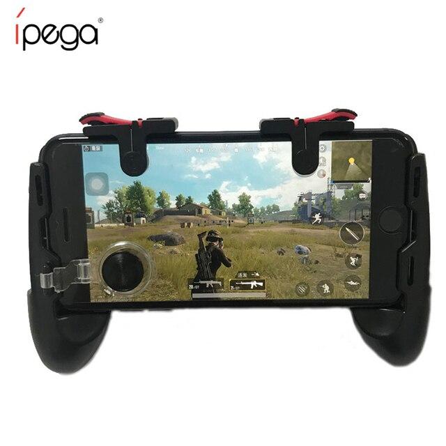 Controle de jogos para iphone pubgb, joystick com aderência, gatilho l1r1e botões de tiro para iphone e android