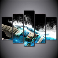 KEDODE Hot 3D guitar art 5 spell living room decoration spray painting wall paintings