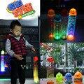 Горячая! 100% новый детские игрушки световой из светодиодов мигающий радуга круг пластиковые катушки
