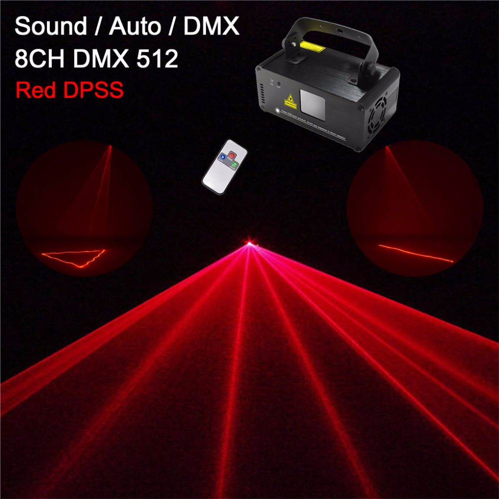 AUCD Mini Remote 200mW Red 8 CH DMX 512 Laser SUNY Stage Lighting Scanner DJ Party Show Projector Equipment Lights DM-R200 suny upgrade remote dmx 450mw blue laser scan stage lighting dj party show light