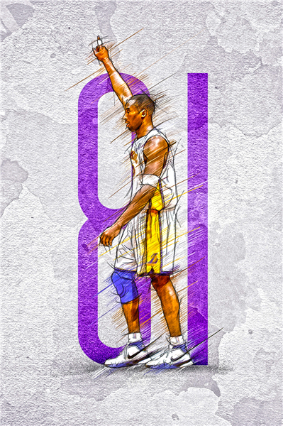 Custom Canvas Painting Kobe Bryant Lakers Poster 81 Points Wall Stickers NBA Sticker Basketball Star Wallpaper