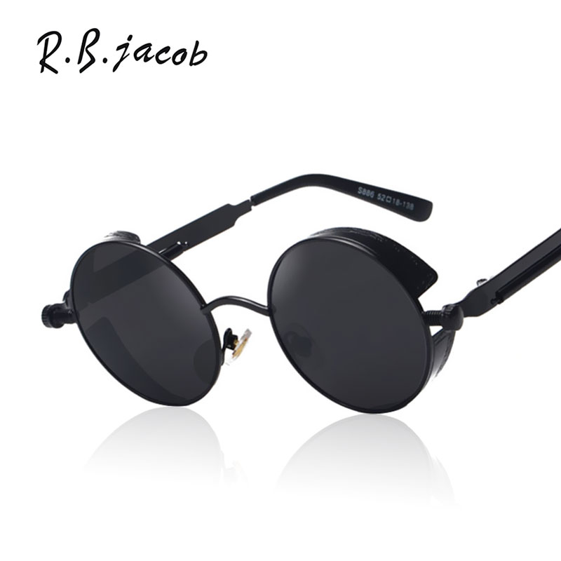 5f38b8dfff Gothic Steampunk Mens Sunglasses Coating Mirrored Women Sunglasses Round  Circle Sun glasses Steam punk Retro Vintage Eyeglasses-in Sunglasses from  Apparel ...