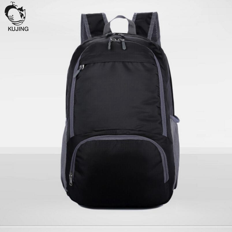 KUJING men and women backpack large capacity wear high quality waterproof student bag folding portable travel leisure package
