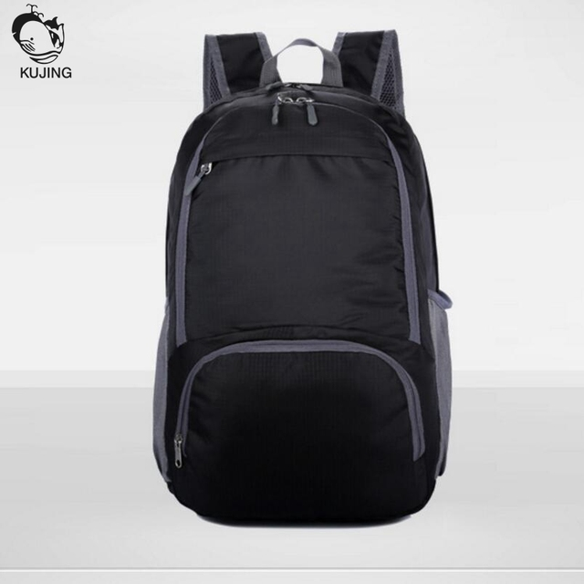 cf5fcfe9c0 KUJING men and women backpack large capacity wear high quality waterproof  student bag folding portable travel