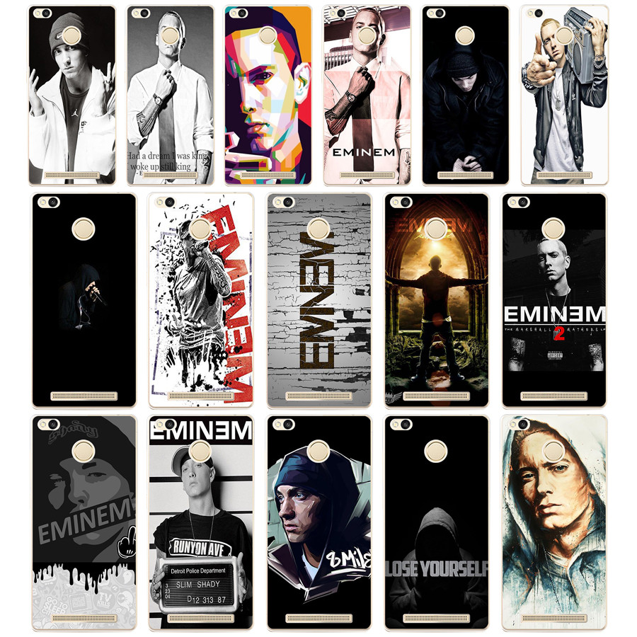 115dd Hop Rapper Eminem Rap Hard Transparent Cover Case For Xiaomi Redmi 3s 3pro 4a 5 Plus Note 4 4x 5a 4pro Mi5 Mi A1