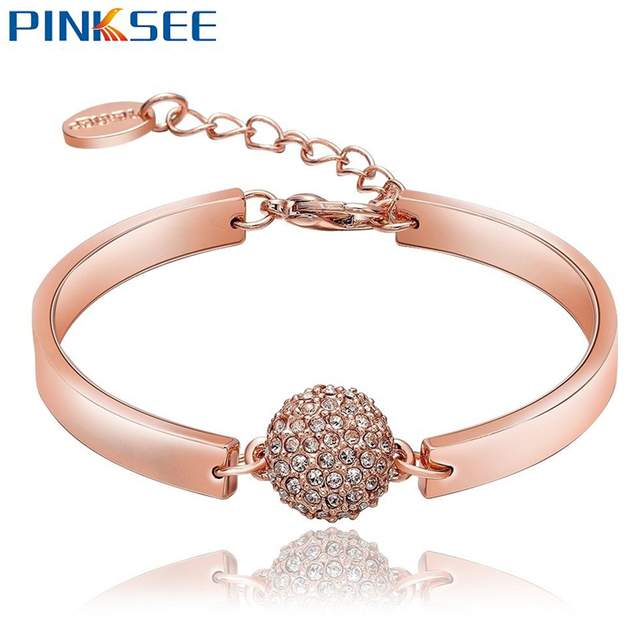 gold alloy bangle bangles charm bracelet product infinity pic chic jewellery rose kz