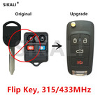 SIKALI Remote Flip Key for FORD/LINCOLN/MERCURY Escape Excursion Expedition Explorer Focus Freestar Freestyle Mustang Controller