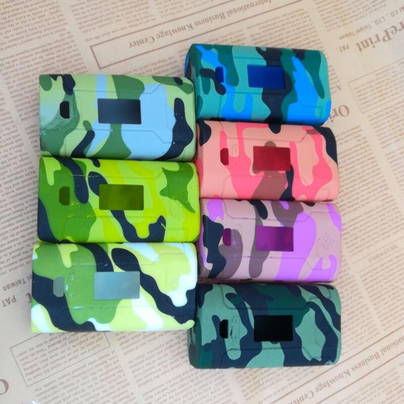 Nouveau Design WISMEC Prédateur 228 Boîte Mod Camouflage couleur Silicone Cas De Protection En Silicone Pour WISMEC Prédateur 228 Boîte Mod