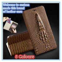 QH10 Genuine leather flip case with card slot for Sony Xperia Z3 Compact phone case for Sony Xperia Z3 Compact flip case