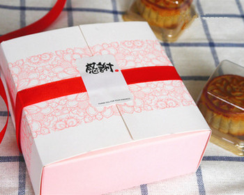 Free shipping small pink flower decoration bakery package dessert candy cookie cake packing box gift boxes supply favors