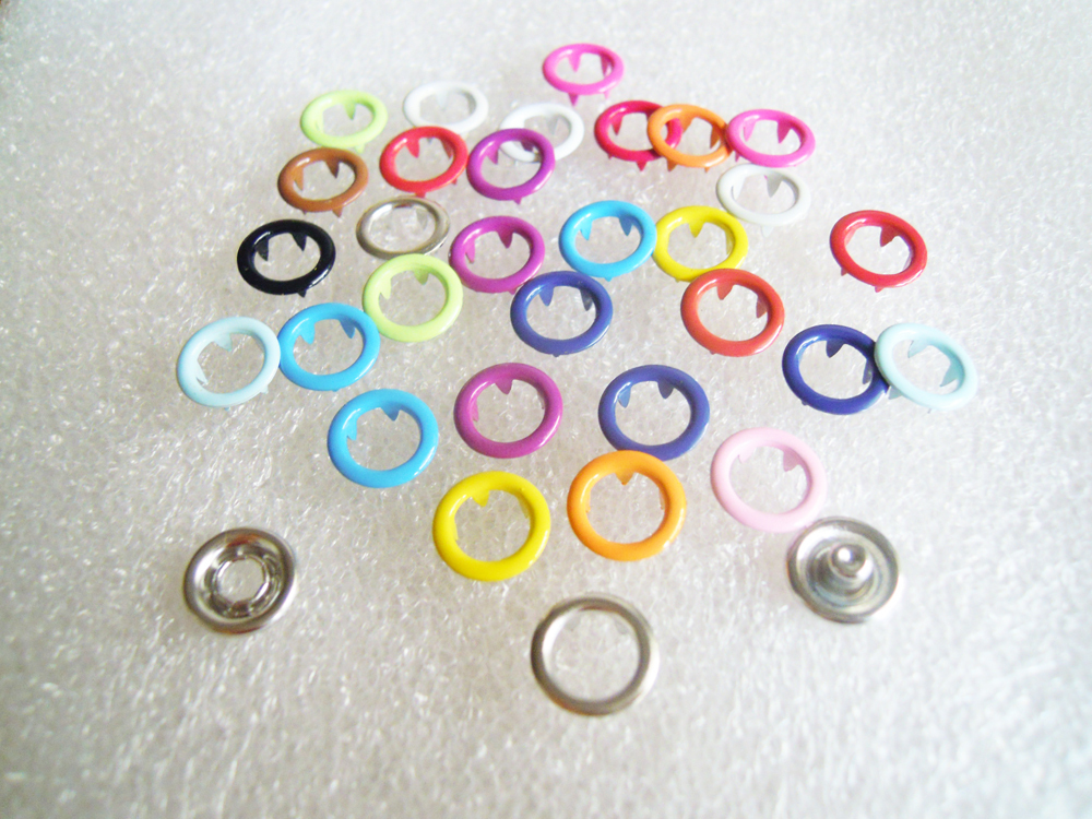 Wholesale Multi Mixed Color Brand 1000 sets 11mm Glossy Metal Snap Button Fastener in Buttons from Home Garden