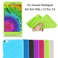 Mediapad T2 7.0 PRO Caso de Gel de Silicona A Prueba de Golpes Protector de cuerpo Completo T2 7.0 Pro Tablet Funda Shell Funda para Huawei Mediapad Caso