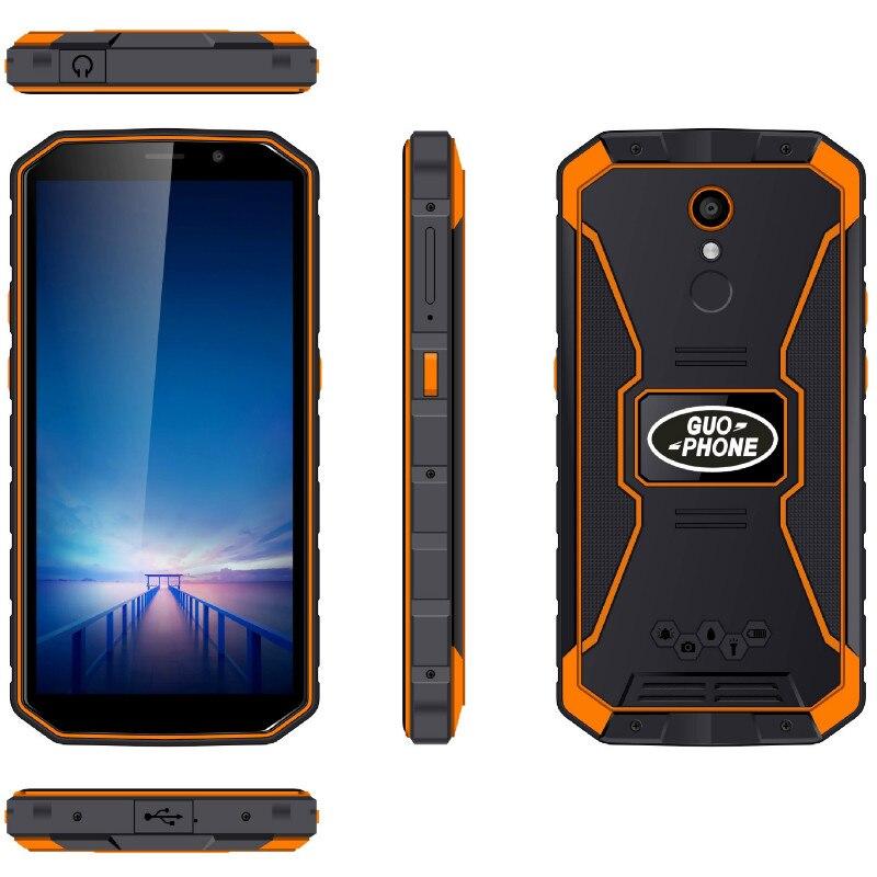 Waterproof Android 8.1 Mobile Smart Phone 2GB Ram + 16GB Rom Guophone XP9800 Quad core phones 6500mAh 5.5'' full screen 2019