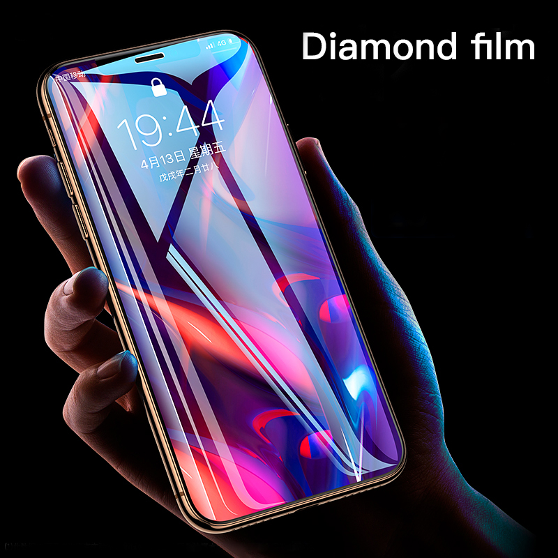 Galleria fotografica Transparent HD Screen Protector Tempered Glass For iPhone 11 Pro Max XSMax XR XS X 7 8 6 6s Plus Full Cover Protective Film