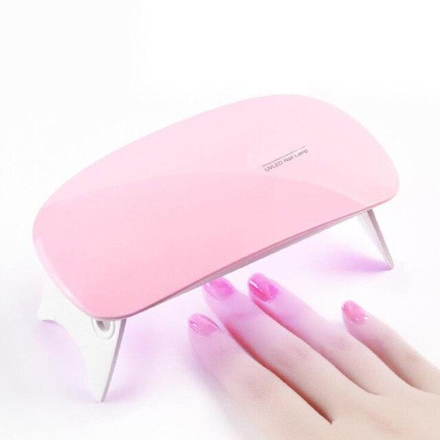 Portable Mini 6W Nail Lamp Gel Nail Polish Dryer LED UV Lamp Mouse ...