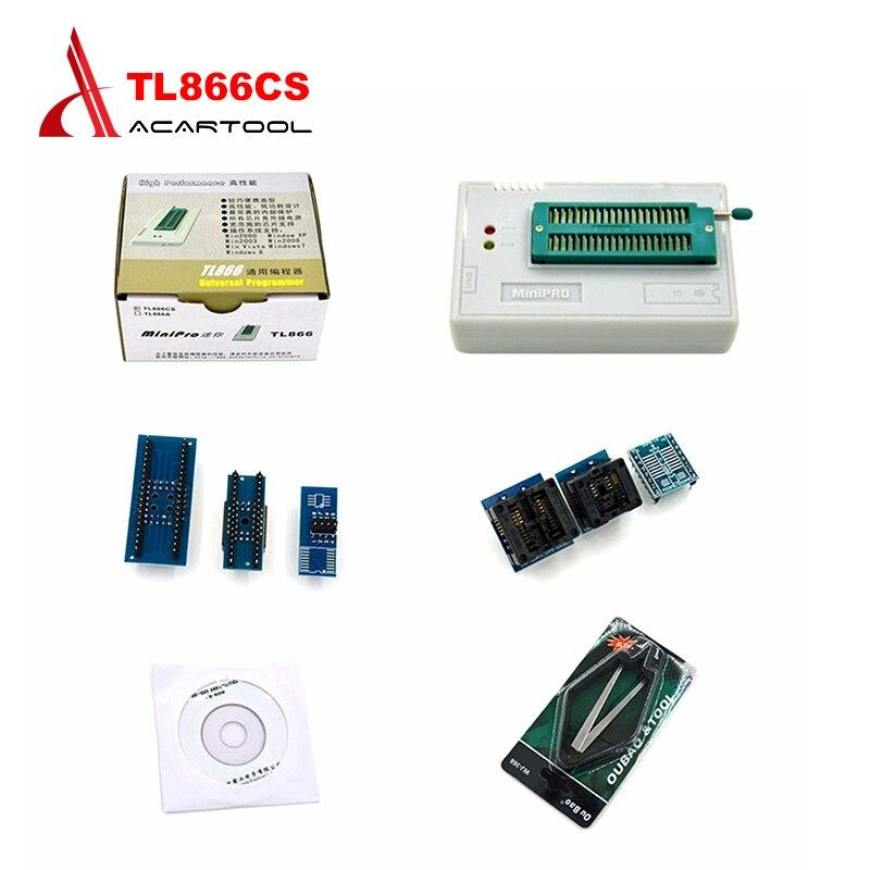 MiniPro TL866CS Prgrammer USB Universal Programmer /Bios Programme+6 pcs Adapter ICs Sensors EEPROM FLASH 8051 AVR Free Shipping