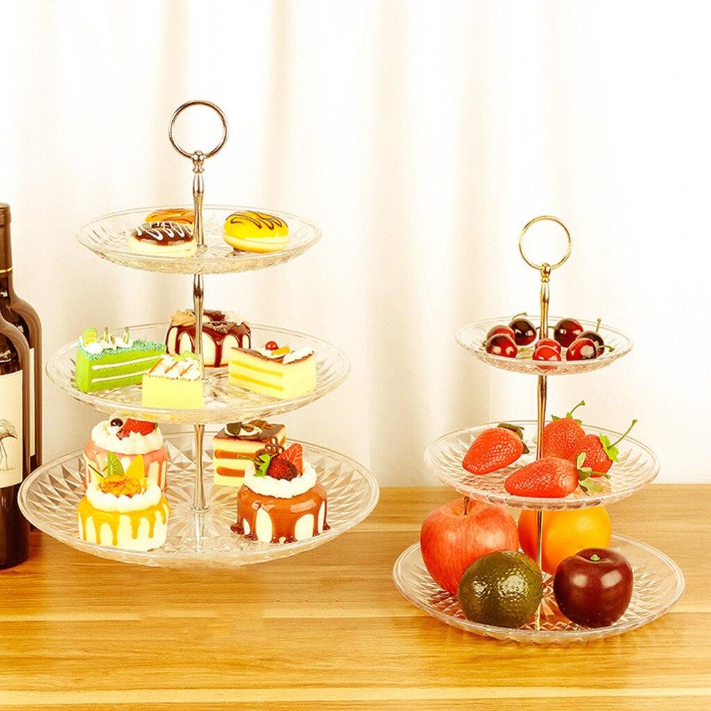 3-Tier Cake Stand Rack Wedding Event Party Dessert Serve Plate Decorative 1PC