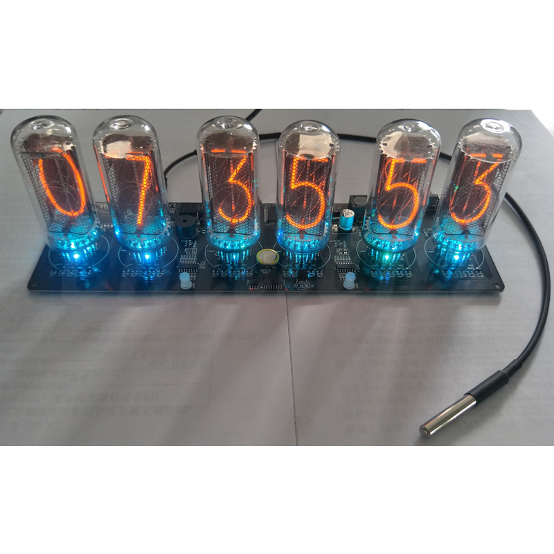 US $123 57 |Electronic clock IN 18 glow tube clock DIY kit tube NIXIE  CLOCK-in Integrated Circuits from Electronic Components & Supplies on