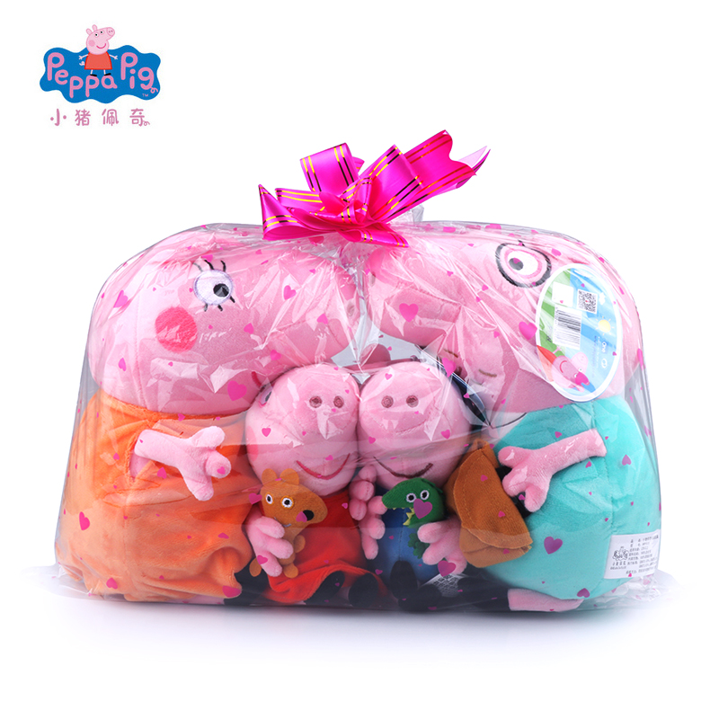 Original Brand 4Pcs/set Peppa Pig Stuffed Plush Toy 19/30cm Peppa George Pig Family Party Dolls Christmas New Year Gift For Girl free shipping new 4 pcs set family pig plush doll soft toy father and mother pig and george 7 8 19 30 cm retail page 2