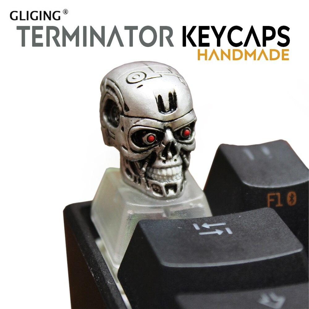 Pbt R4 robot head Cherry MX mechanical keyboard keycaps backlight manual paste bottom ESC game key