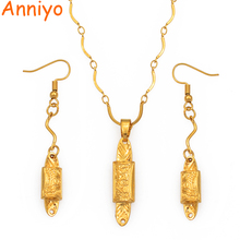 цена на Anniyo Gold Color Pendant Necklaces for Women Girls Papua New Guinea Garamut Jewelry PNG National Tradition Gifts #084906