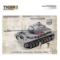 KAZI 82011 войны 2 века Военная Униформа цифры King танк тигр Кэннон строительный Конструкторы Кирпичи Модель игрушки подарок
