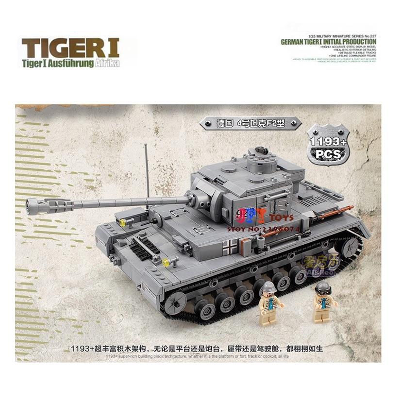 цена на Kazi 82011 WAR 2 Century Military figures King Tiger Tank Cannon Building Blocks Bricks Model toys gift