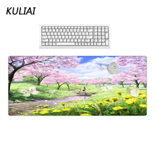 Купить с кэшбэком KULIAI Beautiful Flower Landscape Rubber Mouse Pad Large Size Pc Desktop Mouse Pads Can Be Wholesale To Family and Friends Gifts