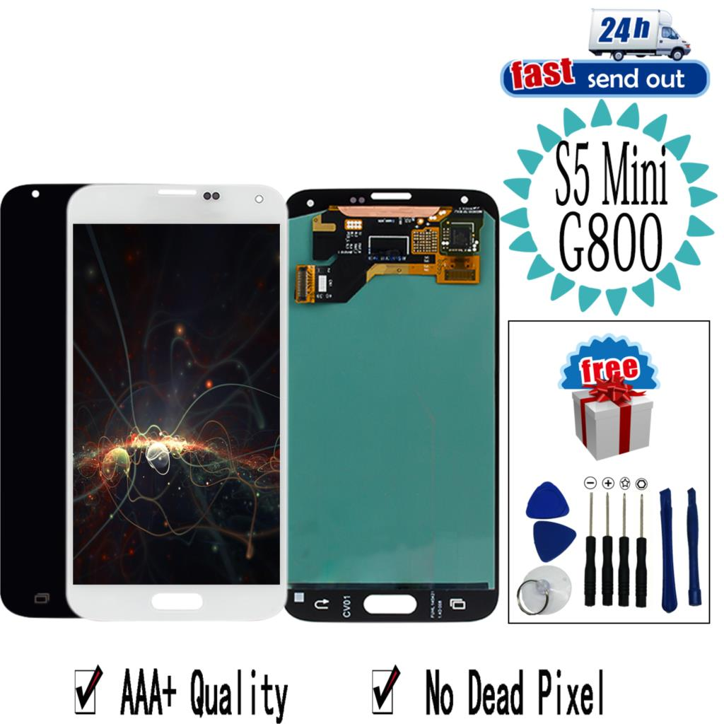 AMOLED <font><b>G800F</b></font> LCD For <font><b>SAMSUNG</b></font> Galaxy S5 Mini S5Mini LCD <font><b>Display</b></font> G800 G800H Touch Screen Tested Digitizer Assembly image