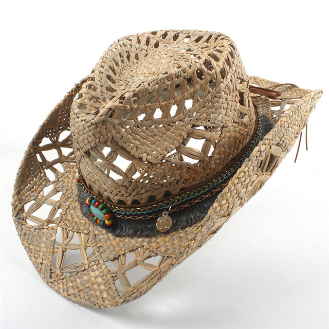 Natural Straw Handmade Weave Tassel Summer Hats