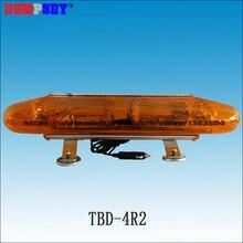 TBD-4R2, Xenon Strobe Mini Lightbar, 0,6 м Длина Взрывная вспышка, DC12/24 В янтарные Предупреждение ющие огни грузовик, магнитная установка