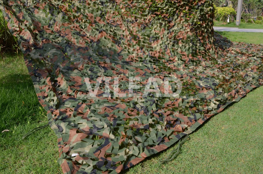 VILEAD 3M x 6M (10FT x 19.5FT) Woodland Digital Camo Netting Military Army Camouflage Net Sun Shelter for Hunting Camping Tent леска монофильная sufix xl strong x10 clear 100м длина 100 м диам 0 45 мм тест 15 4 кг