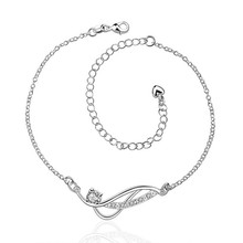 2016 Hot Sale Gift Anklet Silver Color silver plated fashion jewelry anklet for women jewelry/iHLQVVCFK