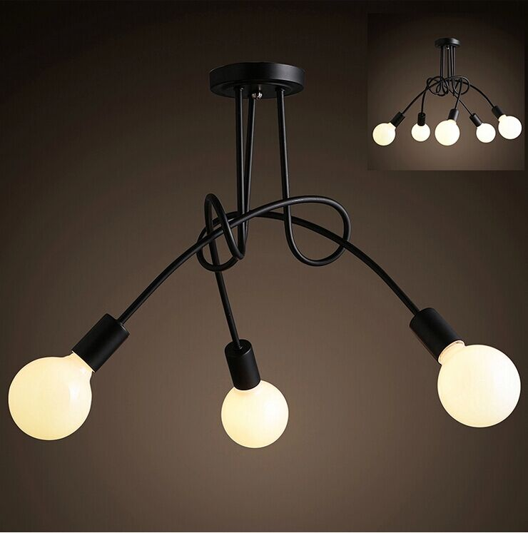 Hot Sale Modern Fashion Design of Kids Room Lamp Nordic Dome Light 3/5 heads Ceiling Lights for Home Decor black,white,red color цена