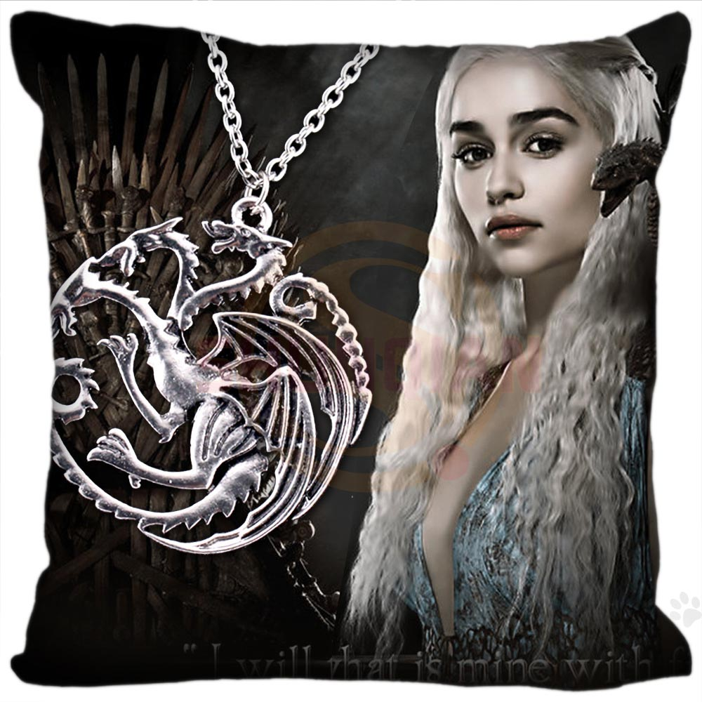 H+P#84 New Hot Custom Pillowcase game of thrones #5 soft multi-sized (duplex print) Pillow Cover Zippered SQ01003@H084 image