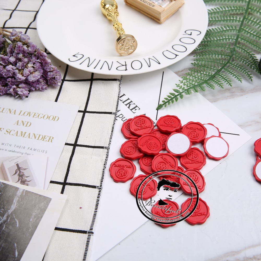 DIY Customized Engraving Logo peel and stick wax seals for wedding ...