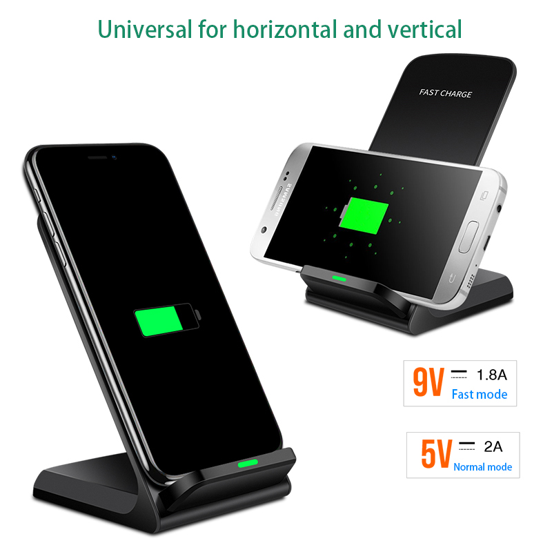 10W Quick Wireless Charger for iPhone X XS Max 8plus xiaomi Samsung s9 Wireless chargeur Qi Fast Charging Stand Receiver Adapter Зарядное устройство