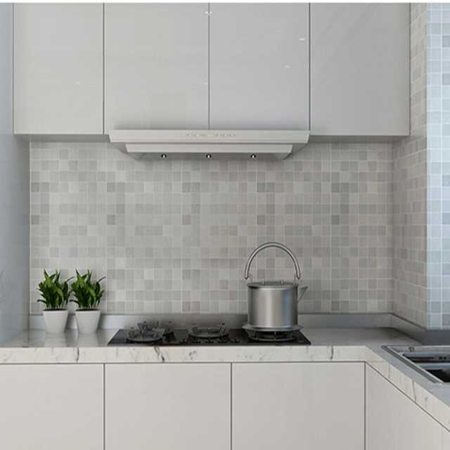 PVC Wasserdichte Bad wandaufkleber PVC mosaiktapete küche ...