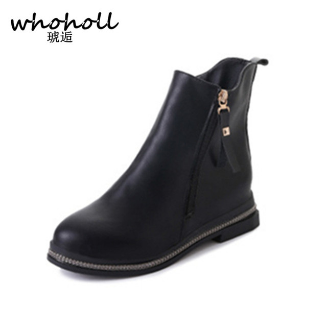 Women Spring-Autumn Zipper Boots