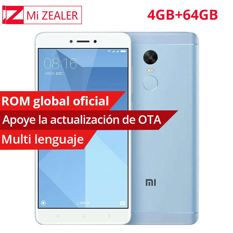 Original Xiaomi Redmi Note 4X 4GB RAM 64GB ROM Mobile SmartPhone Snapdragon 625 Octa Core 1920×1080 5.5″ 4100mAh 13.0MP MIUI