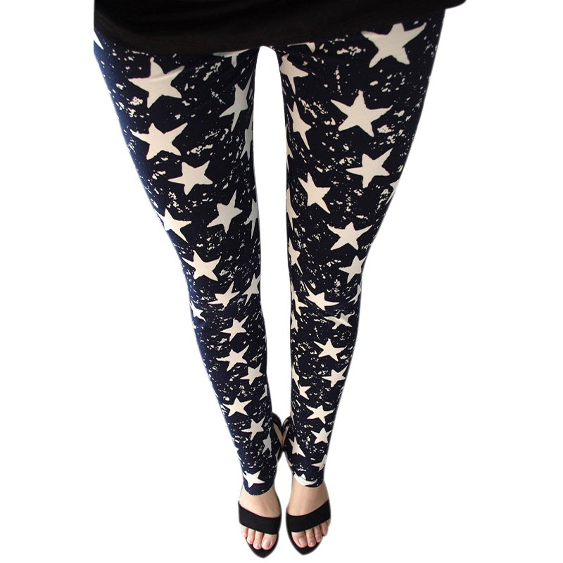 2017 Spring Summer trousers Fashion   Leggings   Stretch Graffiti Slim Pants Female   Leggings   feminina gothic pants
